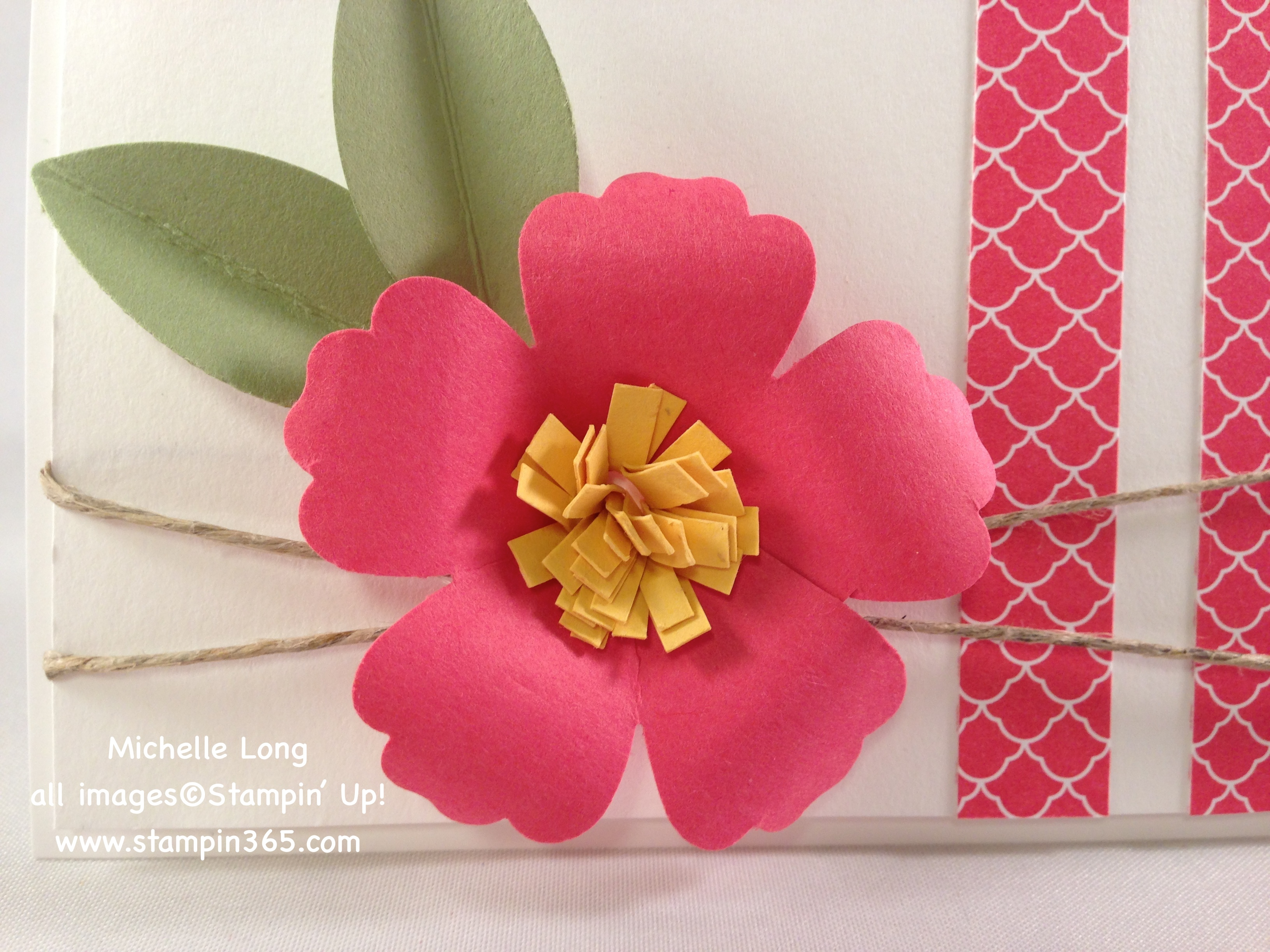 3d Paper Flower Tutorial Stampin 365