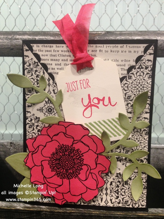 Strawberry and black card