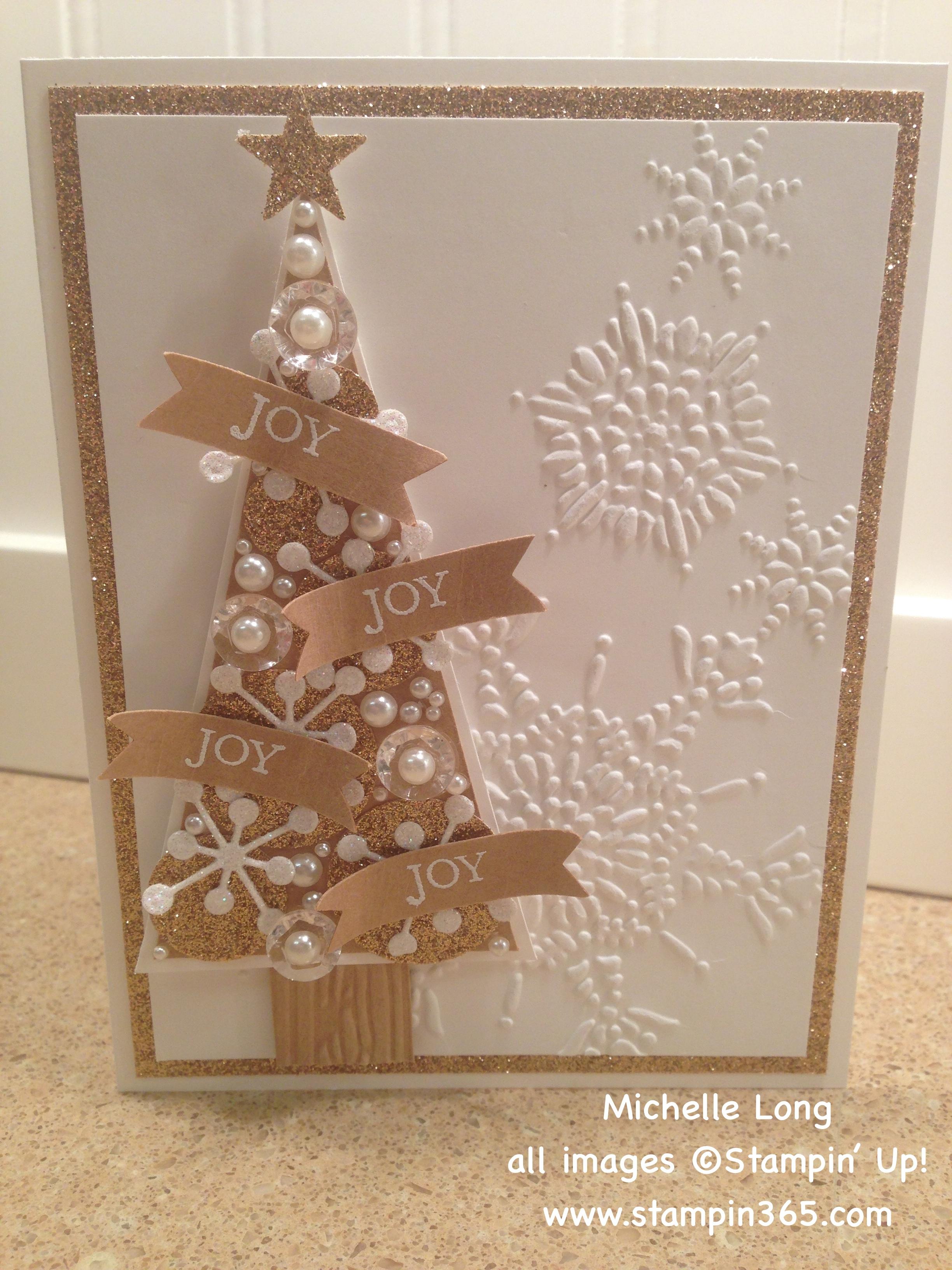 Snowflake card thinlits die stampin