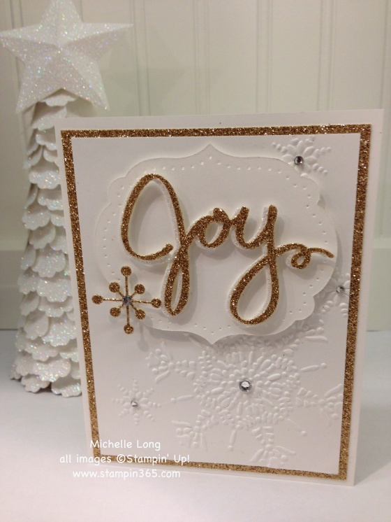Gold and White Card