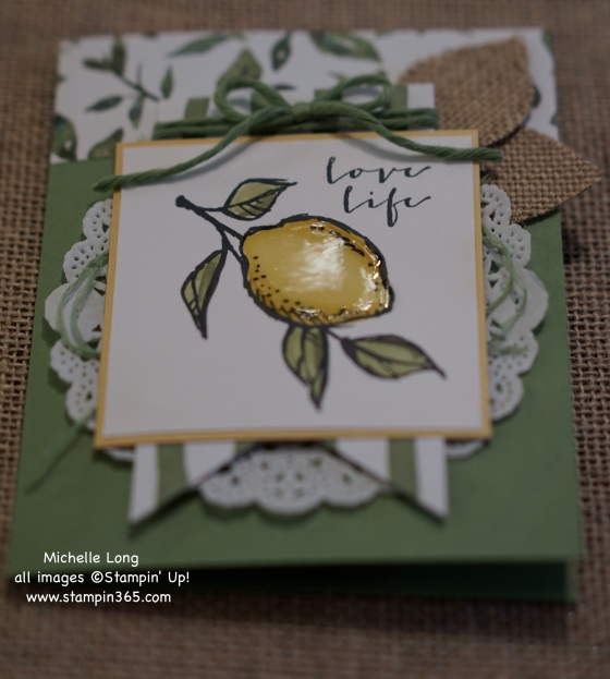 Lemon Card Closeup