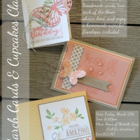 March Cards & Cupcakes Class