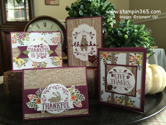 Thankful Forest Friends stampin365.com