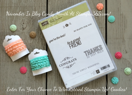 Blog Candy Giveaway Stampin365.com