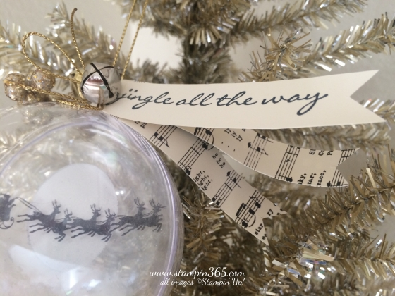 Cozy Christmas Ornament Stampin365.com