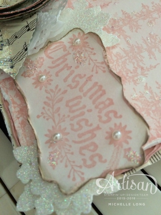 Pink Shabby Chic Christmas Card 2