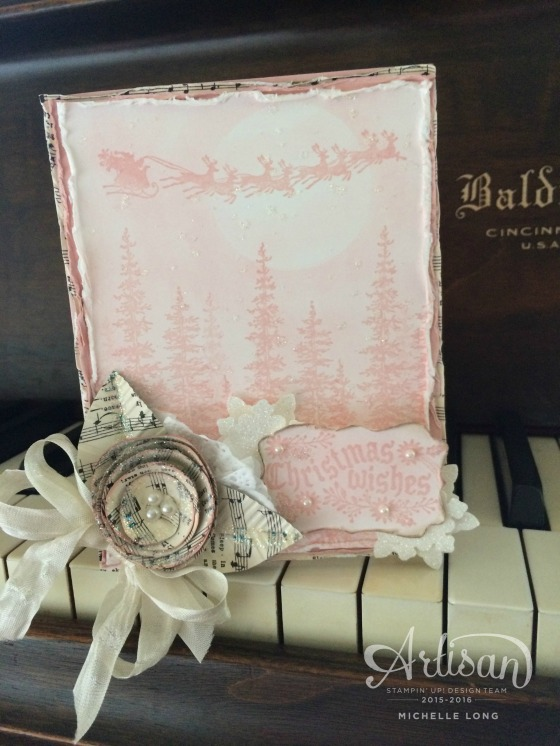 Pink Shabby Chic Christmas Card