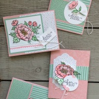 February Stamp of the Month Club- Birthday Blooms
