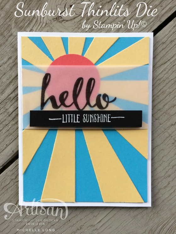 Sunburst Card Stampin365
