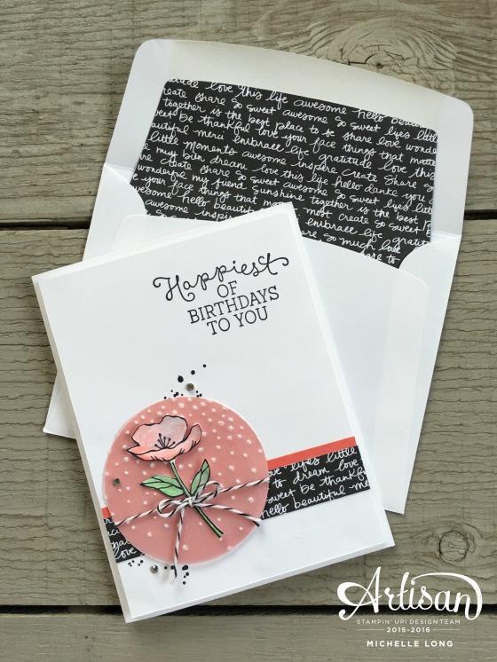 Birthday Blooms Card Stampin365.com