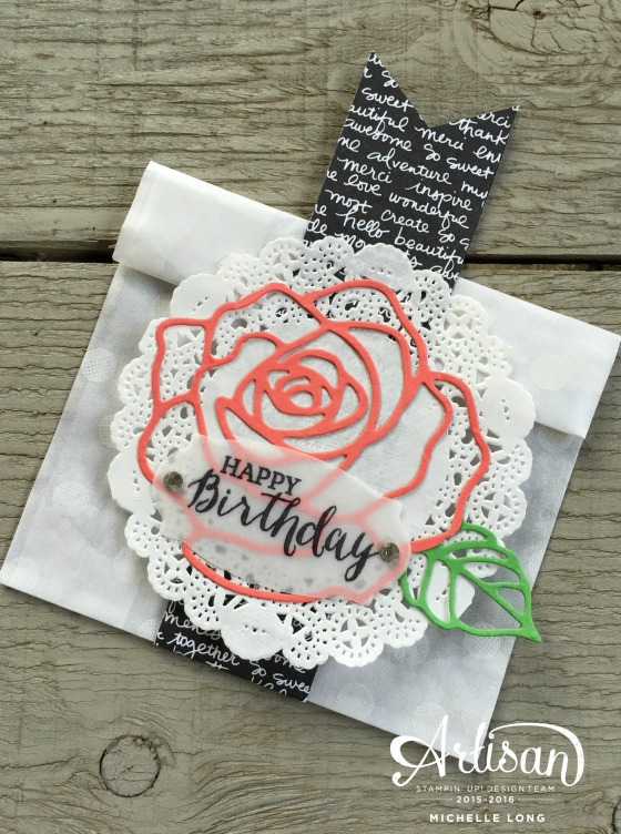 Rose Garden Treat Sack Stampin365