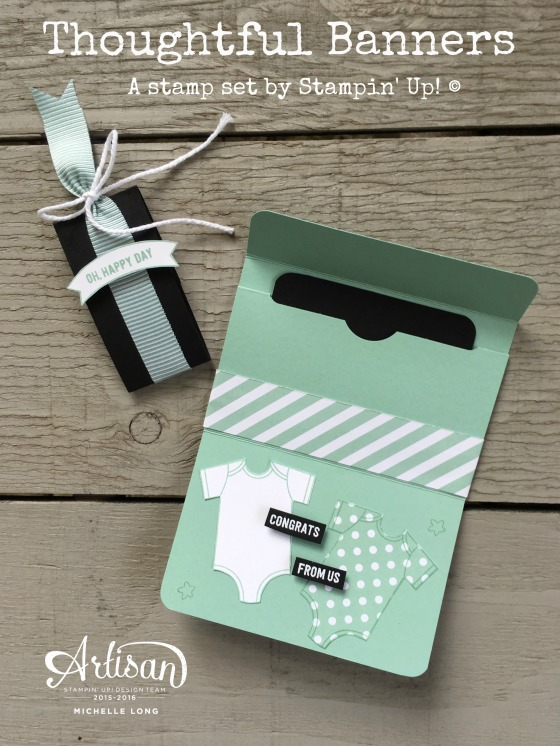 Gift Card Holder Mint 2 Stampin365