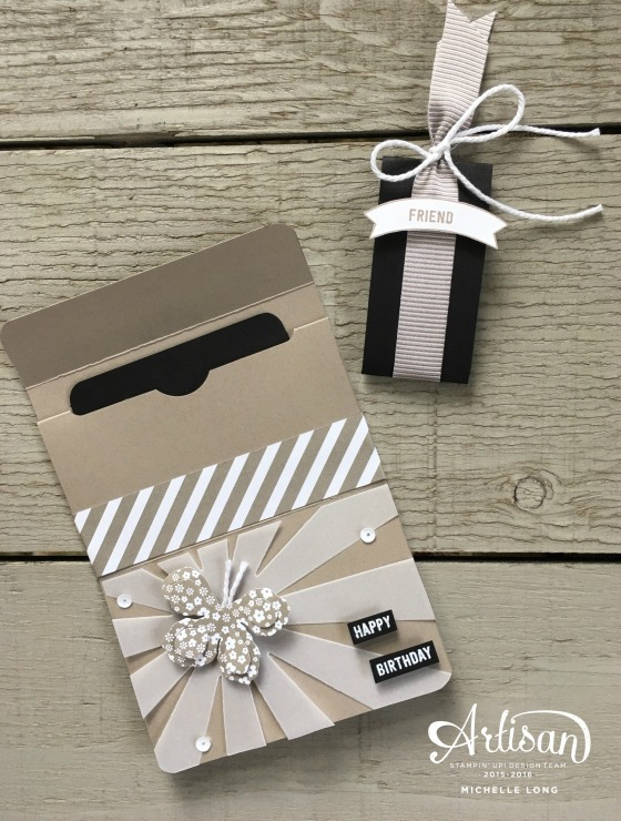 Gift Card Holder Taupe 2 Stampin365