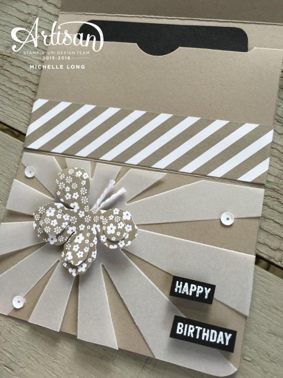 Gift Card Holder Taupe Stampin365