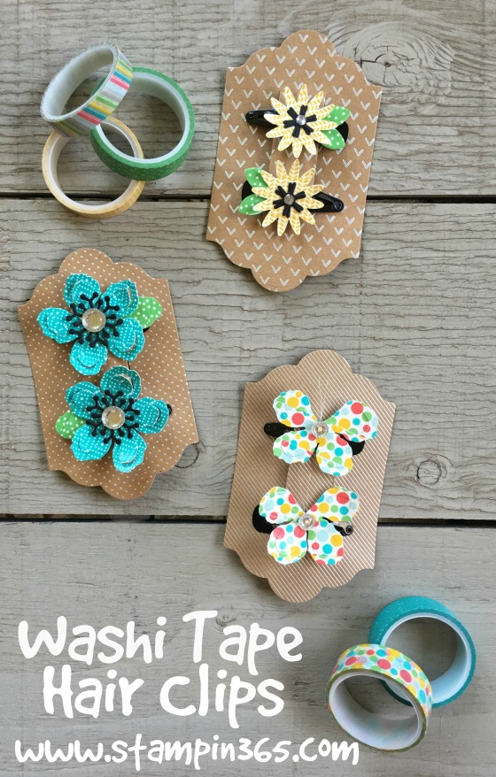 Washi Tape Hair Clips 4 Stampin365