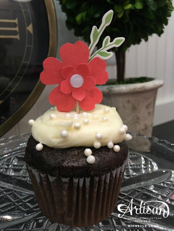Pansy Cupcake topper stampin365.com