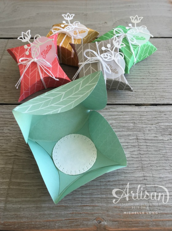 Pillow Boxes Inside stampin365.com