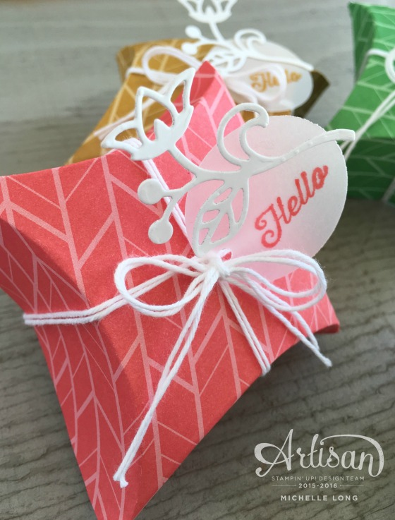 Pillow Boxes stampin365.com