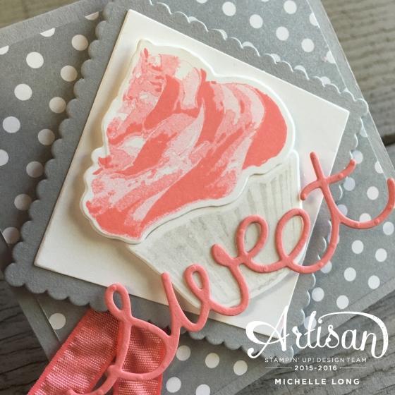 Sweet Cupcake Card Close Up Stampin365.com